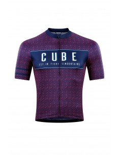 Maillot CUBE BLACKLINE Manches courtes